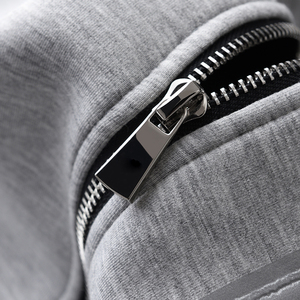 Image 5 - Minglu Grey Hoodies Men Luxury Combined Fabric Hooded Sweatshirts For Men Plus Size 3XL 4XL Spring Slim Fit Sweatshirt Male