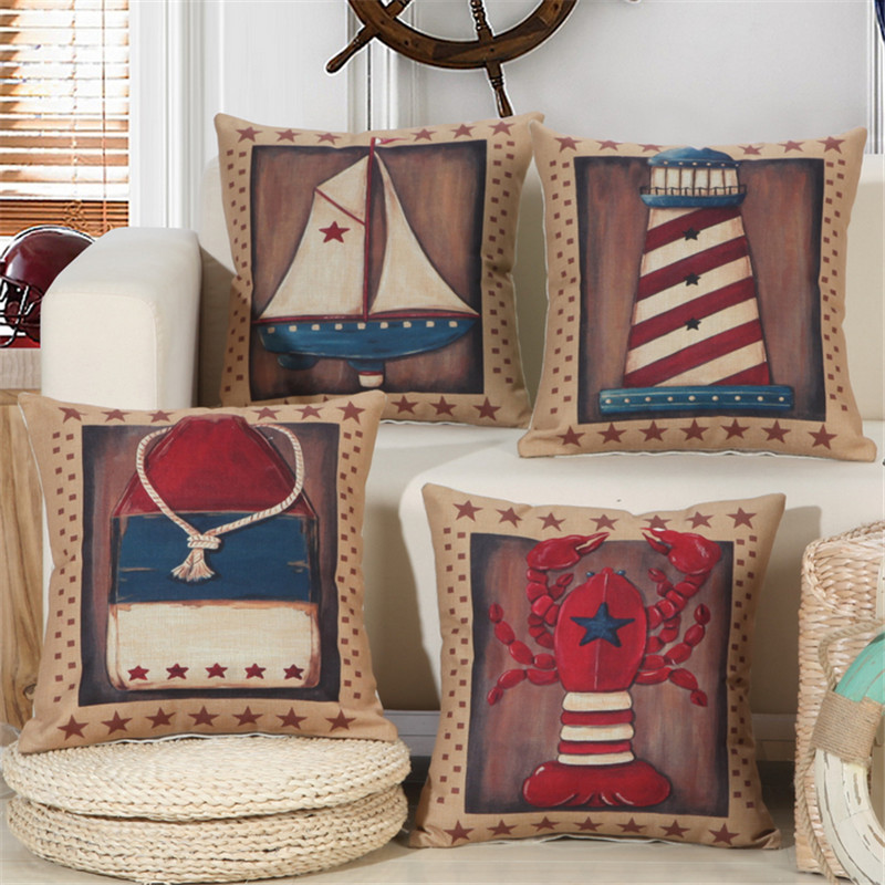 Wholesale(4pieces/lots) Creative 3D Cushion Cover Polyester Boat Design Home Decor Sofa Decorative Throw Pillowcase