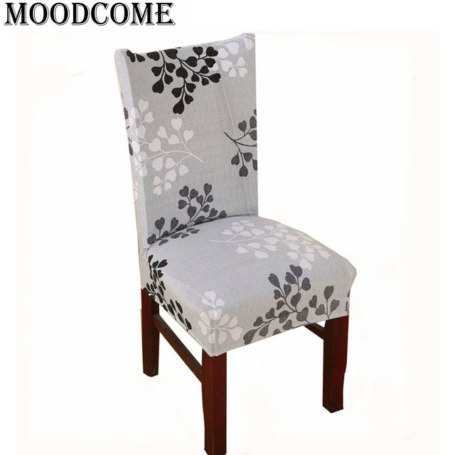 dining chair covers aliexpress best place to buy a bean bag stretch cover fashion spandex chairs 2016 new design ginkgo biloba lycra funda silla oficina