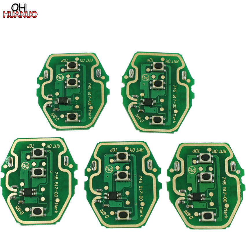 5pcs new ews remote 3 button key circuit board 433mhz or. Black Bedroom Furniture Sets. Home Design Ideas