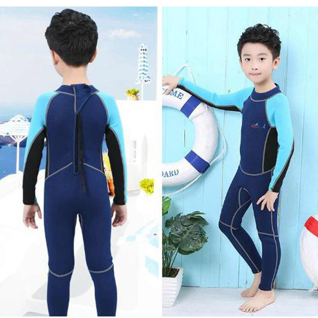 omfortable Children Kids Toddler Long Sleeve Surfing Swim Swimming Diving Snorkeling Wetsuit Jumpsuit XS/S/M/L/XL Diving Suits