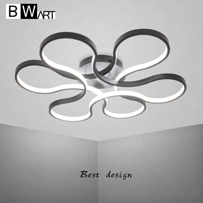 BWART modern led chandelier for living room bedroom aluminum body remote control home chandelier lighting lamp