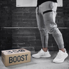 2019 Design Gym Pants Men Fitness Running Sweatpants Cotton Feet Guard Sports Workout Jogging