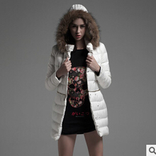 Free shipping 2016 winter new European and American women's Long paragraph Slim thickened Fur collar padded cheap wholesale