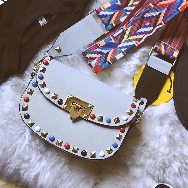 Remache Mini PU Bolsos Crossbody de cuero para las mujeres famosas - Bolsos - foto 3