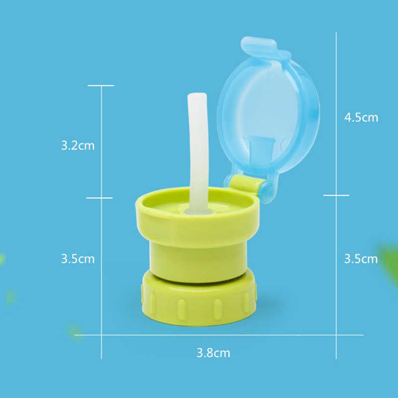 2019 ขายร้อนแบบพกพาโซดาขวดน้ำ Twist ฝาครอบฟางปลอดภัยเครื่องดื่มฟางหมวก Sippy ให้อาหารสำหรับเด็ก