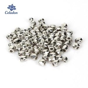 Лидер продаж, 300-500 шт., 3 мм/4 мм, родиевое Золото KC CCB, пластиковые квадратные промежуточные бусины для самостоятельного изготовления ювелирных изделий