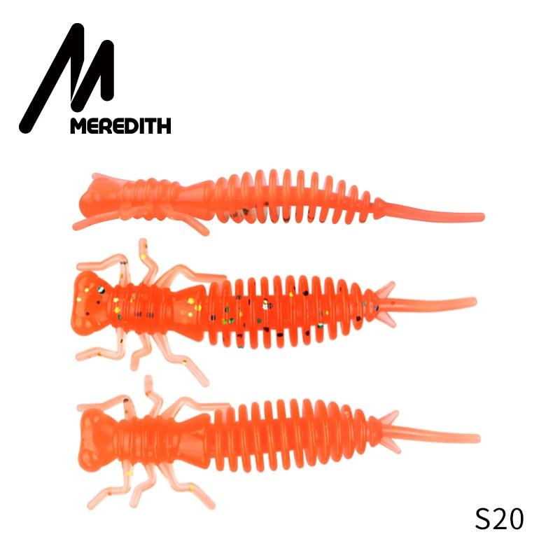 Мягкие приманки MEREDITH Larva, 50 мм, 62 мм, 85 мм, искусственные приманки, силиконовая приманка для ловли червя, приманка для ловли щуки, гольян, плавающая приманка, пластиковые приманки - Цвет: S20