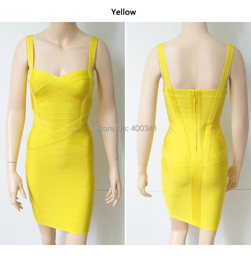 17 New Women Sexy Spaghetti Strap Rayon HL Elastic Celebrity Bandage Dress Bodycon Mini Club Party Dresses Drop Ship HL8675 25