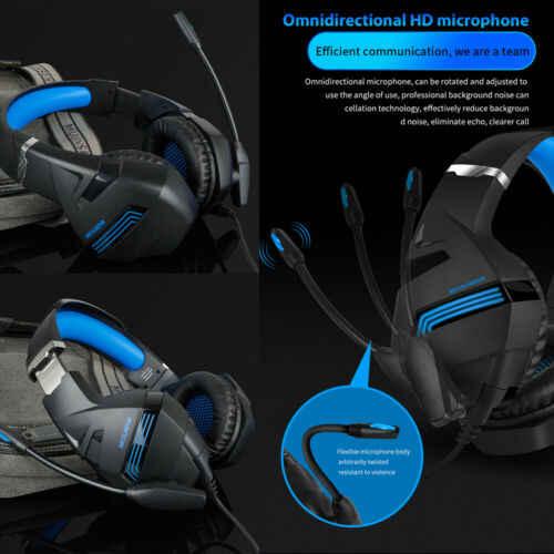 A2, игровая стереогарнитура, 7,1, Virtual Surround Bass, игровые наушники с микрофоном, светодиодный светильник для компьютера, ПК, геймера
