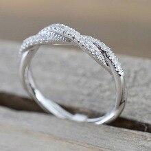 Кольцо с узором из скрученной веревки и конопляных цветов, покрытое розовым золотом и серебром, кольцо с микро кубическим цирконием, модное женское ювелирное изделие