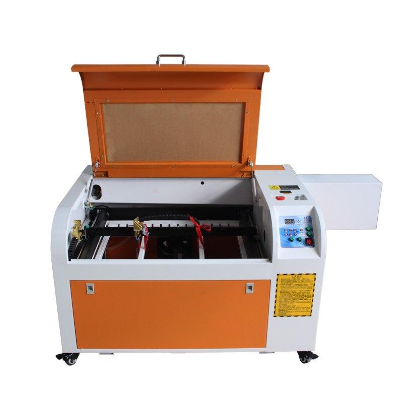 LY CO2 Laser schneiden maschine 6040 60 W Medium-speed version 400 MM/S seitlichen quadratischen schiene design laser gravur