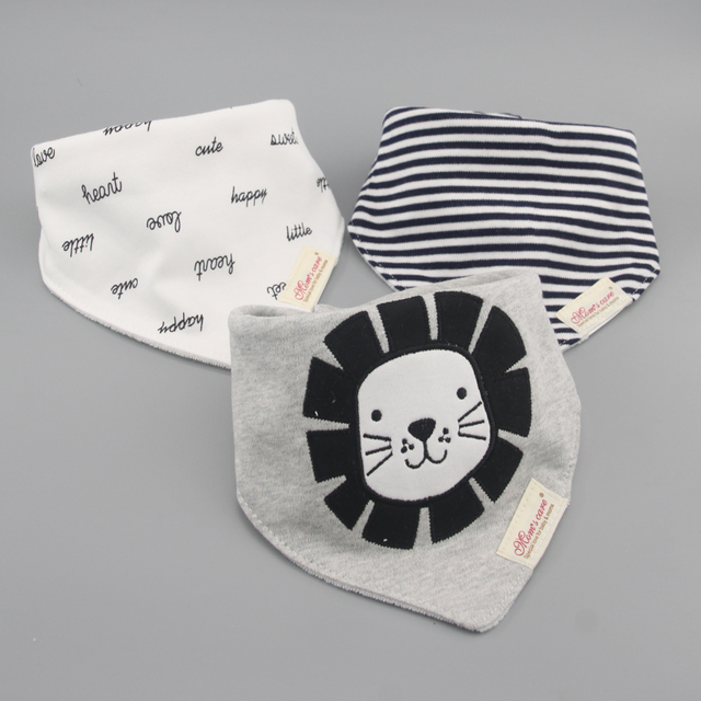 3 sztuk/partia 100% bawełna dla niemowląt chłopców i dziewcząt śliniaki ręcznik dla niemowląt chusty szalik dzieci cravat niemowląt ręcznik