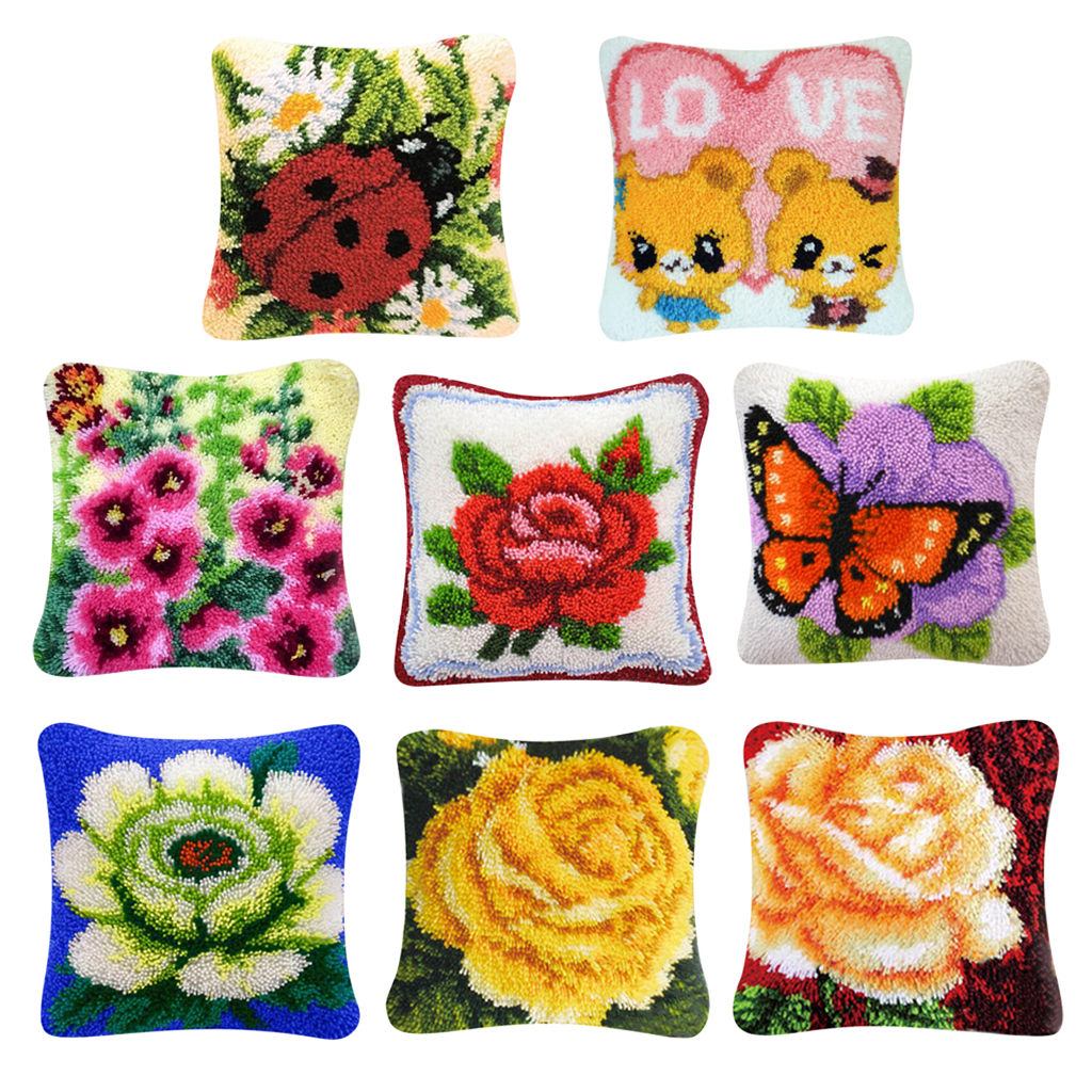 Admirable Us 26 49 Flower Latch Hook Kits Diy Embroidery Crocheting For Pillow Cover Sofa Cushion Cover Making 40X40Cm In Latch Hook From Home Garden On Download Free Architecture Designs Grimeyleaguecom