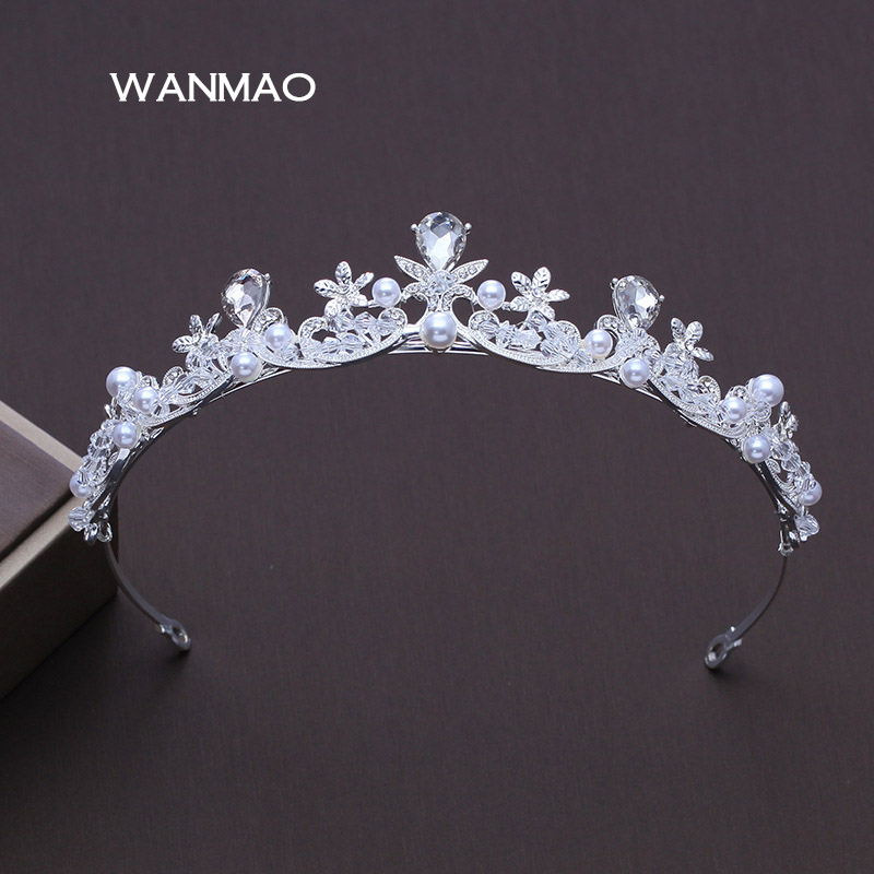 New brides Crowns and tiaras Princess Royal Crown head hoop wedding dress accessories women pageant ornament jewelry HD156