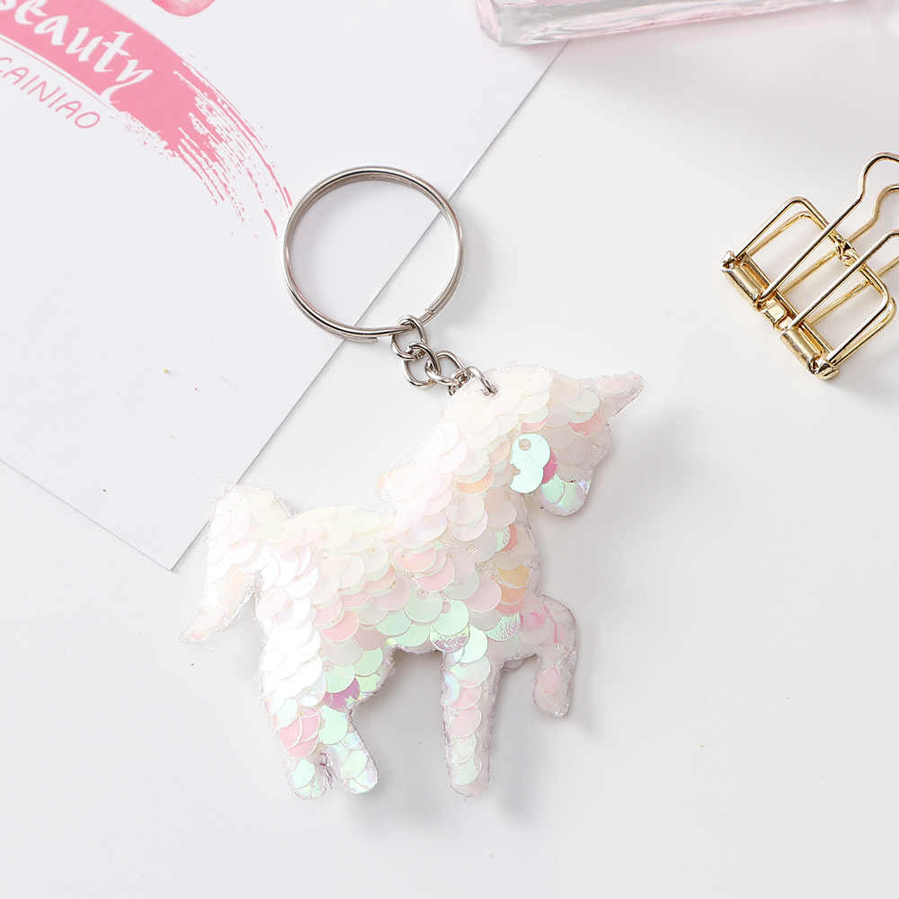 2019 New Lovely Sequins Key Chain Gifts for Women Llaveros Mujer Car Bag Accessories Key Ring