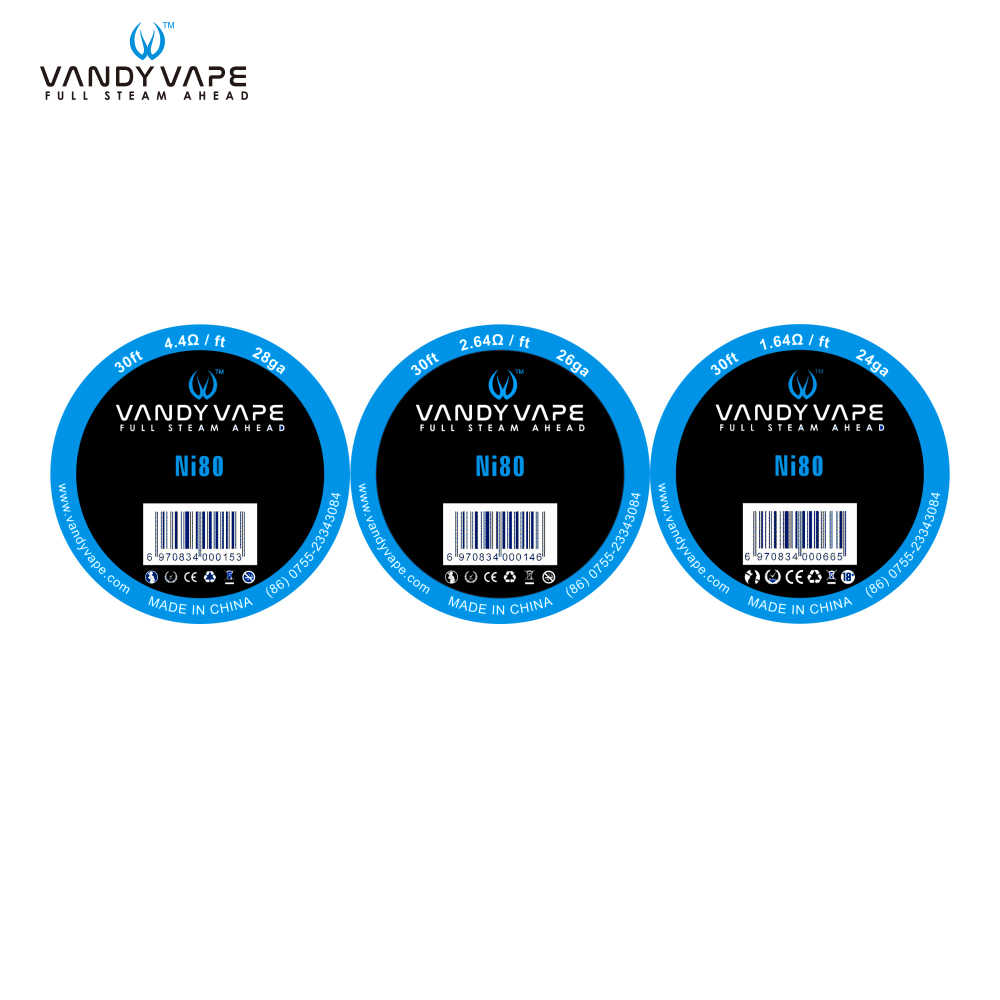 hight resolution of detail feedback questions about original vandy vape ni80 wire 28ga 26ga 24ga for eletronic cigarette atomizer vandyvape rba tank on aliexpress com alibaba
