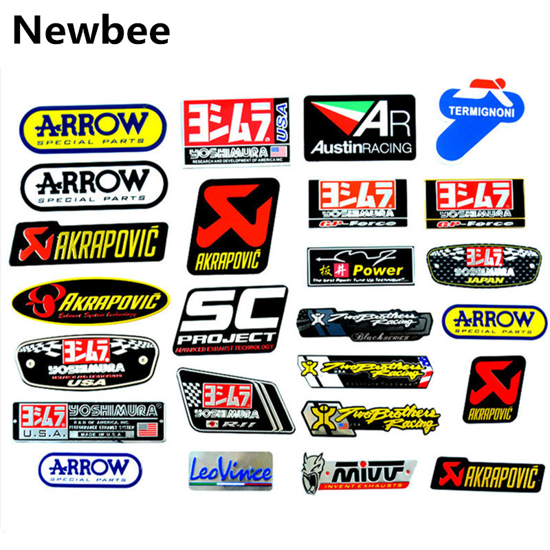 Muffler-Sticker Decal Ttr Yoshimura Exhaust-Pipes MIVV Heat-Resistant Motorcycle AKRAPOVIC
