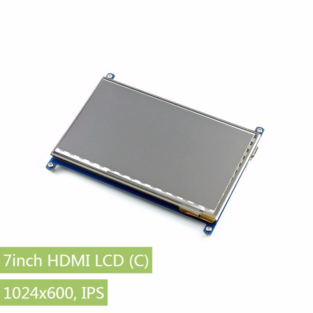 Prix pour Raspberry Pi 7 pouces HDMI LCD (C) 1024*600 Écran Tactile Capacitif HDMI interface Prend En Charge BB Noir et banane Pi/Pro Divers Système