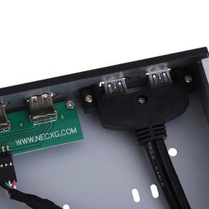 Image 5 - מקצועי DIY מחשב אביזרי 2 יציאת USB 3.0 + 2 יציאת USB 2.0 מחברים 5.25 אינץ ביי התקליטונים לוח קדמי סוגר AA