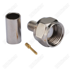 2 Pieces 75ohm F Type male Crimp plug connector for LMR195 RG58 RG400 RG142