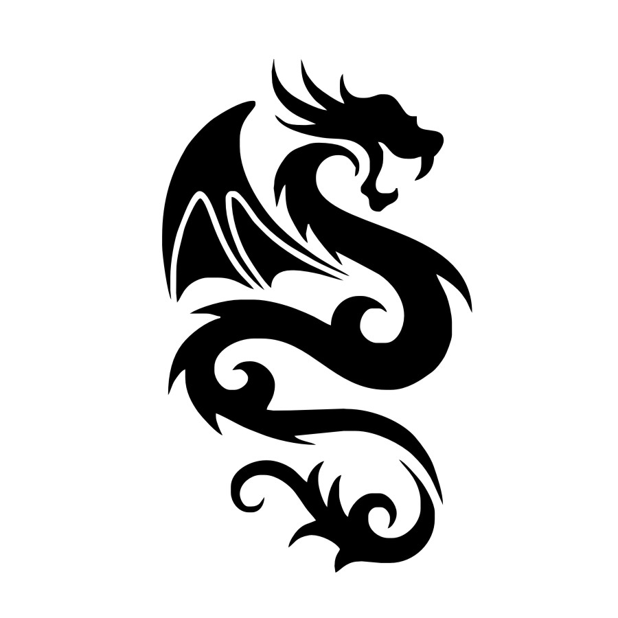 Image 4 - Peaceful Dragon with Wing Wall Sticker Vinyls for Wall Decals Children's Decorative Home Bedroom Living Room sofa Art WallPaper-in Wall Stickers from Home & Garden