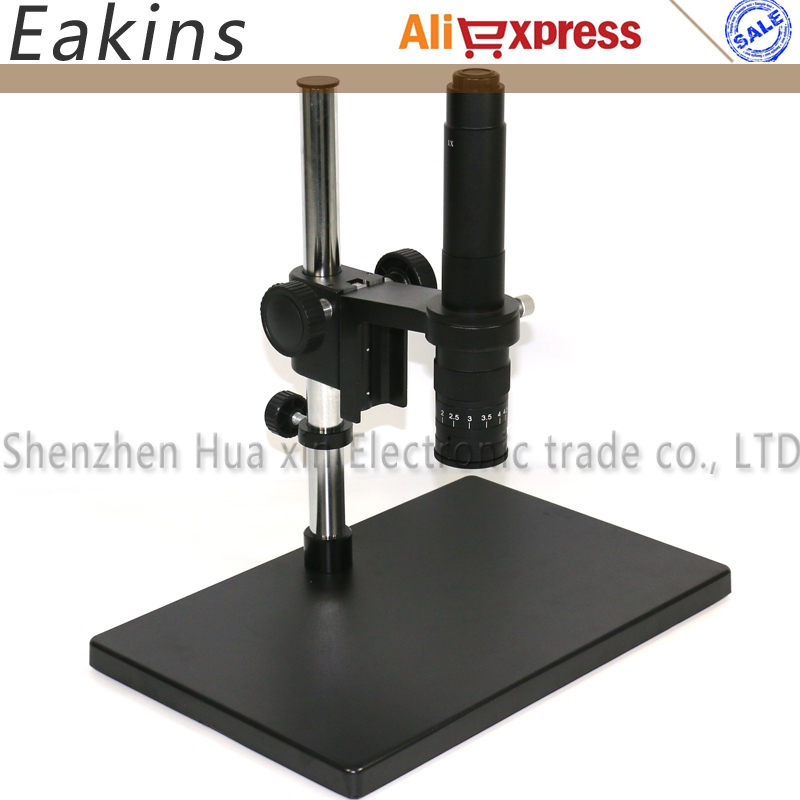 Big Size Adjustable table Stand Holder+50mm Ring Holder+180X/300X C-mount lens for Lab Industry Video Microscope Camera big size adjustable table stand holder multi axis adjustable metal arm 180x c mount for lab industry microscope camera
