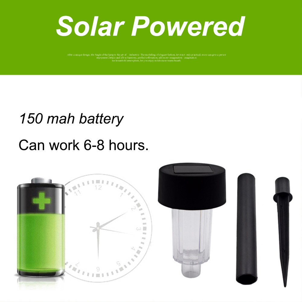 10 pieces Outdoor Stainless Steel Solar Lawn Light Changing Garden Solar Power Lamp for Landscape Path Yard Pathway Lights in Path Lights from Lights Lighting