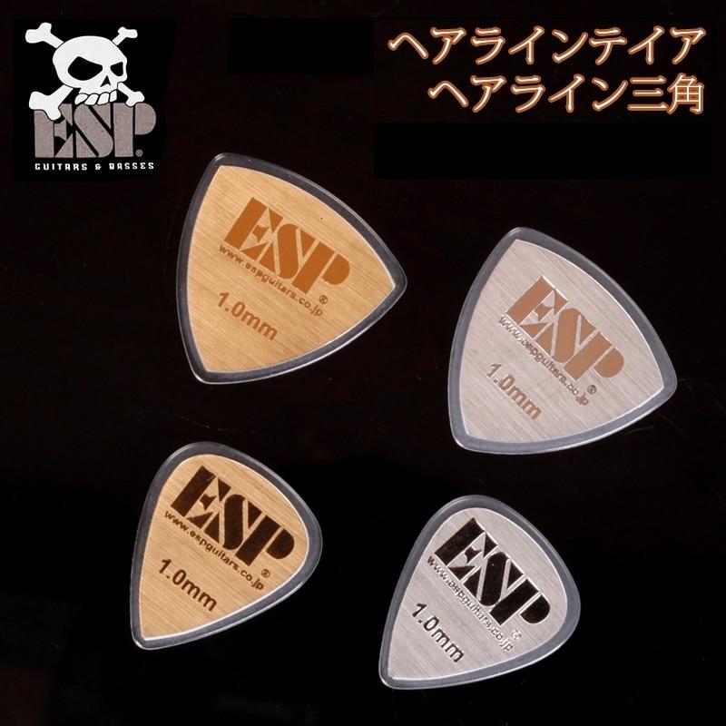 ESP PT/PD-HL10 Gold / Silver ESP Brand Metal Guitar Pick, 1mm gauge, 1/piece