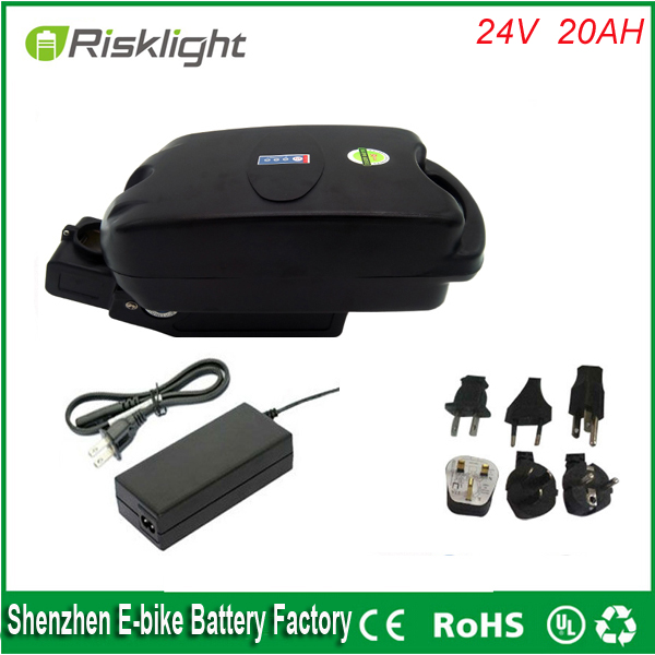 ebike lithium battery 24v 20ah lithium ion bicycle 24v electric scooter battery for kit electric bike 360w with BMS +Frog case lithium ion ebike battery pack 60v 15ah 1000w 1500w frog stype battery with charger and bms for e bike for samsung cell