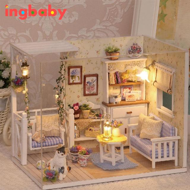Puzzle Doll House Child DIY Hut Kitten Diary Hand Building Model Assemble Toy Send Girl