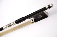 Sterling Silver Ebony Abalone pairs Eyes Carbon fiber violin bow FP800