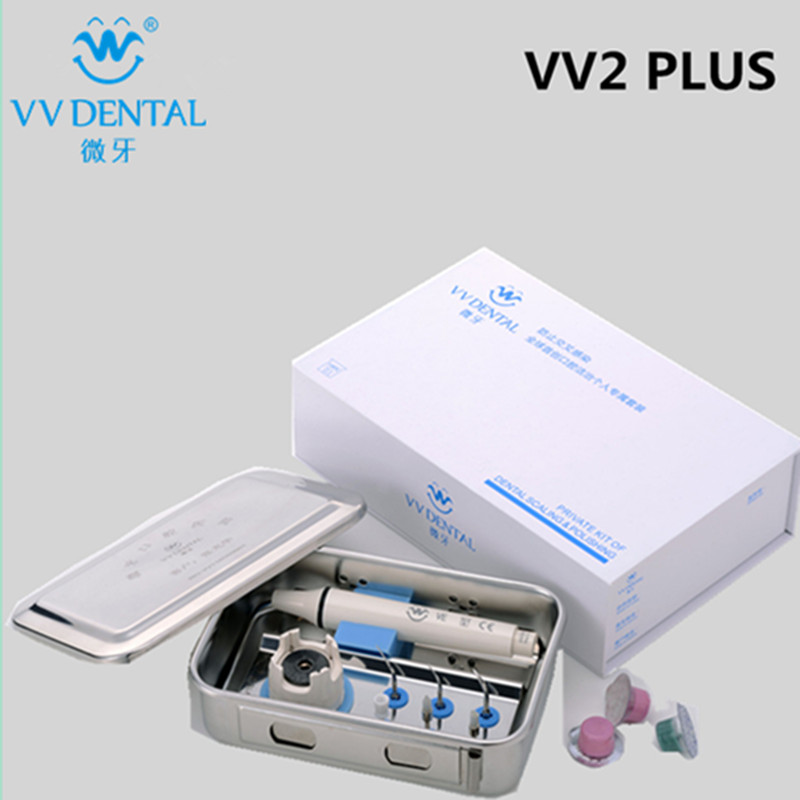 New dental Set VV2 Plus Ultrasonic Dental Scaler Handpiece And Tips Fit on EMS/ WOODPECKER Teeth Whitening Equipment Dental 2017 teeth whitening oral irrigator electric teeth cleaning machine irrigador dental water flosser professional teeth care tools