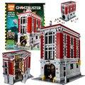 EN EL Envío Libre COMÚN Nueva LEPIN 16001 4695 Unids Ghostbusters Sede del parque de Bomberos Modelo Kits de Construcción Modelo conjunto Compatible Con