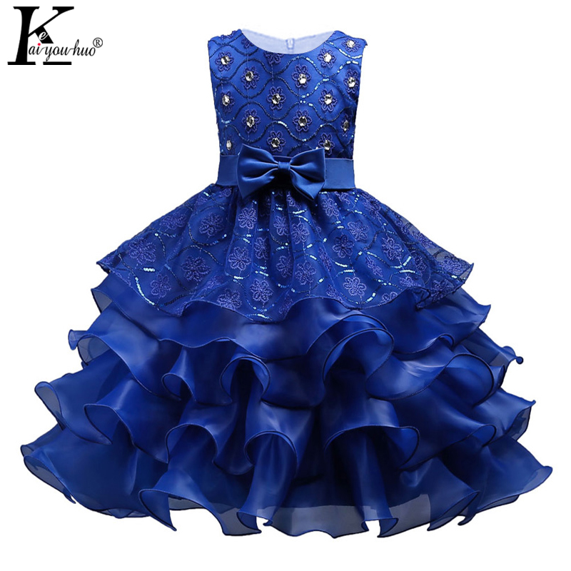 KEAIYOUHUO 2018 New Baby Girls Wedding Dress Bow Summer Princess Dress Costume For Kids Party Dresses For Girls Children Clothes 2017 new girls dresses for party and wedding baby girl princess dress costume vestido children clothing black white 2t 3t 4t 5t