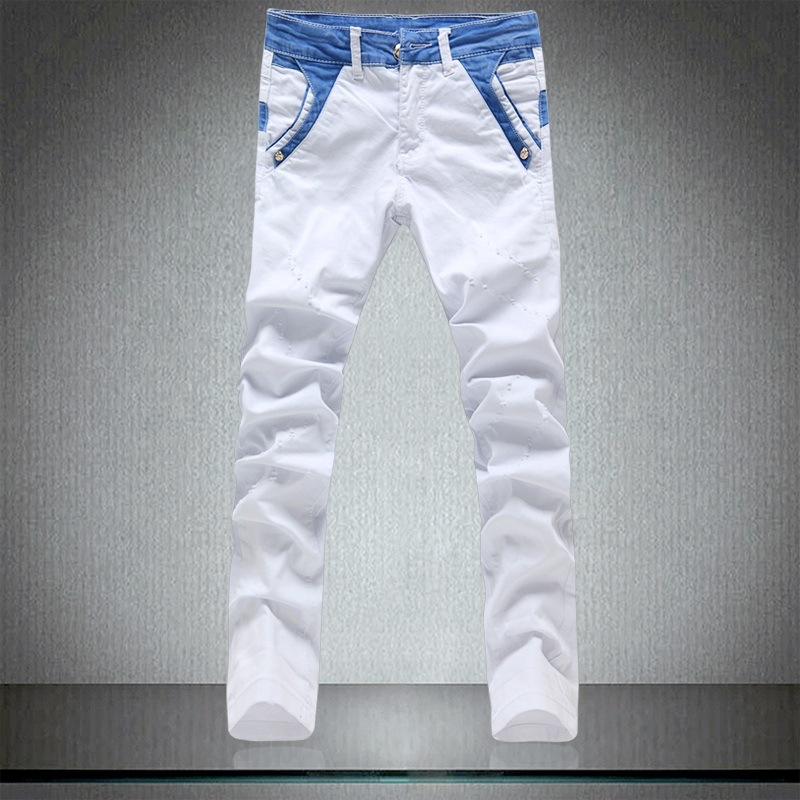 Online Buy Wholesale white slim jeans from China white slim jeans
