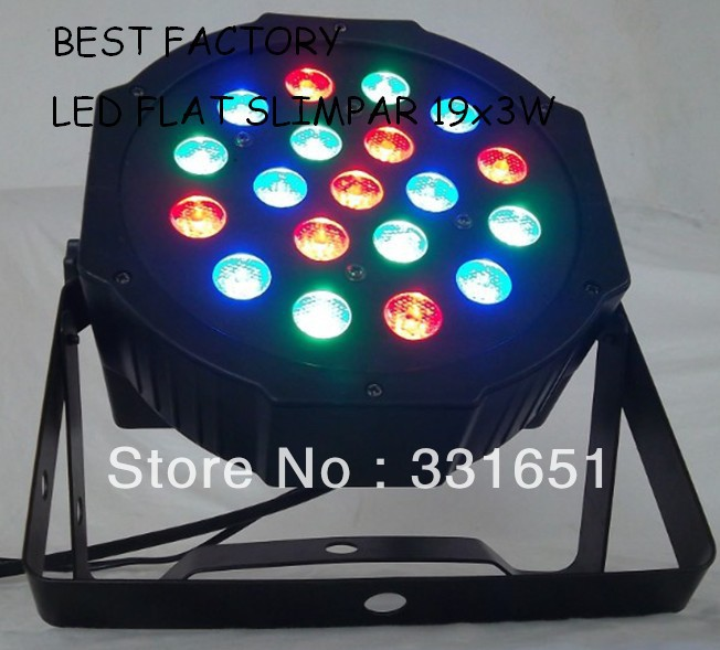 2013 Hot LED Par Light Whole Sale Price 19x3W RGB Wash Light DMX Flat Slim Par Can LED Lighting with 7 Channels hot sale 16inch waterproof oil price led digital number display screen sign panel from china