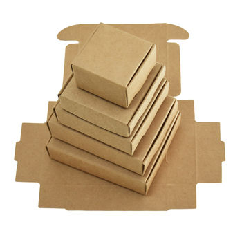 20Pcs Vintage Brown Paper Boxes Foldable Small Kraft Cardboard Handmade Soap Candy Packaging Box Wedding Party Favor GiftsBoxes 50pcs small white kraft paper package box retail lipstick package cardboard boxes handmade soap candy jewelry gift packing box