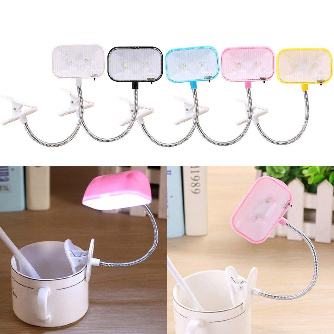 Led Lampe De Lecture Portable Flexible Mini Clip Sur Livre Lumière De Bureau Lumière Lumineuse Blanc/bleu/noir/rose/jaune Booklight