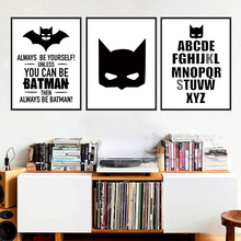 Batman Quote Canvas Art Print Painting Poster, Wall Pictures for Home Decoration, Decor