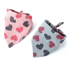 Valentines Day Dog Bandana Reversible Triangular Bibs Scarf Accessories for Dogs Cats Pets Animals