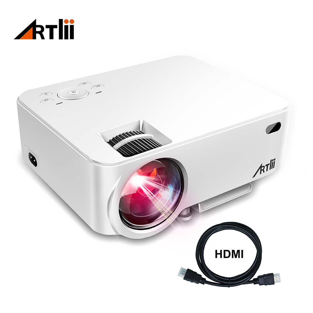Artlii Mini Portable Project Home Theater Video Projector Support 1080P LCD To Watch Sports Matches or Movie For Family or Party цены