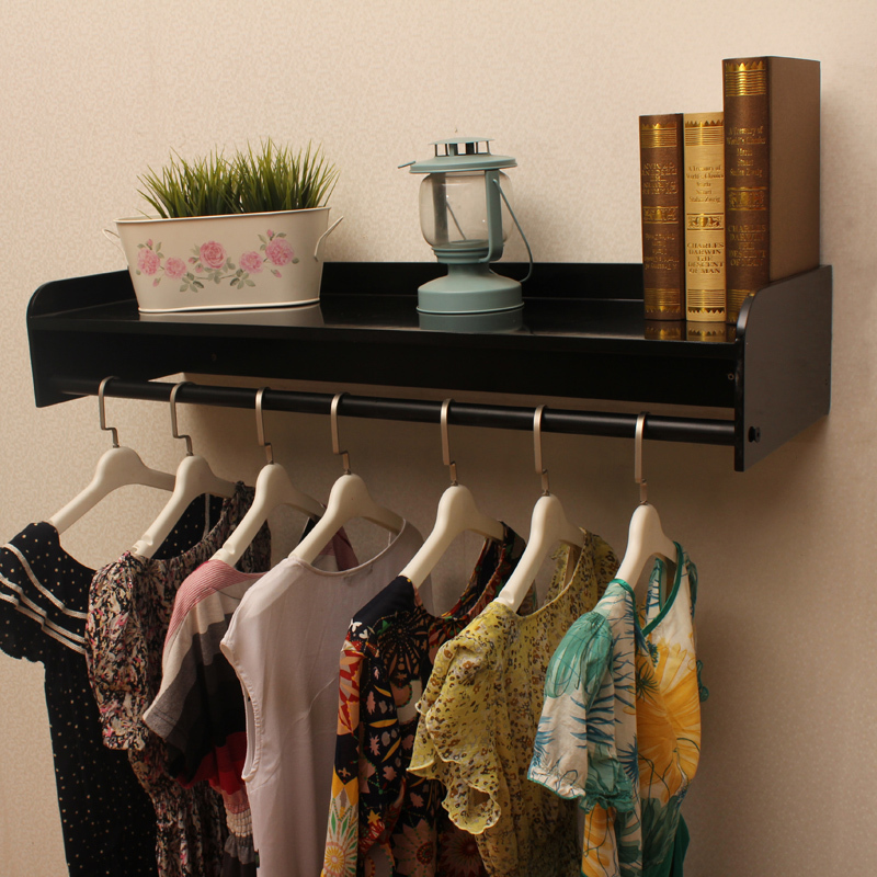 Continental wooden wall clothing display rack on the wall clothing ...