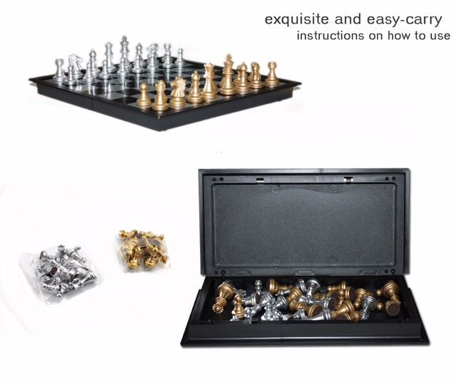 New U3 Magnetic Folding Chess Board Set Table Funny Educational Game For  Kids