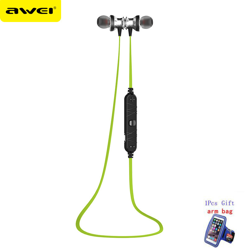 AWEI A980BL Wireless Bluetooth Stereo Headset Audifonos Running Sports Bluetooth Earphones with Mic Auriculares Fone De Ouvido  new arrival sports fone de ouvido earphone awei a890bl wireless bluetooth earphones audifonos with microphone for xiaomi iphone
