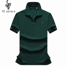 Digital Peacock Men Polo Shirts 2018 Summer Luxury horse embroidery Breathable Camisa Masculina Soft Cotton solid