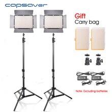 Capsaver LED Video Light 2 em 1 Kit de Câmera Fotográfica levou Painel de Luz de estúdio Iluminação Fotografia Lâmpada com Tripé CRI 90 TL-600S