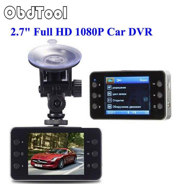 "OBDTOOL New 2.7"" Full HD 1080P Car DVR Camcorder Camera Video Recorder Dash Cam G-Sensor Night Vision K6000 LR20"