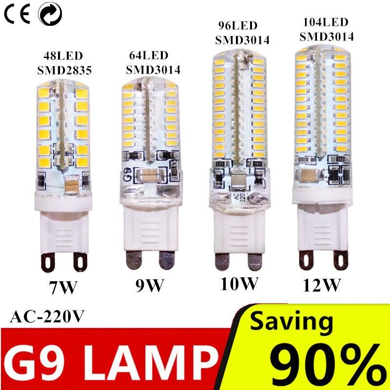 G9 lâmpada led 7 w 9 w 10 w 12 w ac220v 240 v g9, smd 2835 luz led g9 para substituição de lâmpada de halogênio 30/40 w, 3014