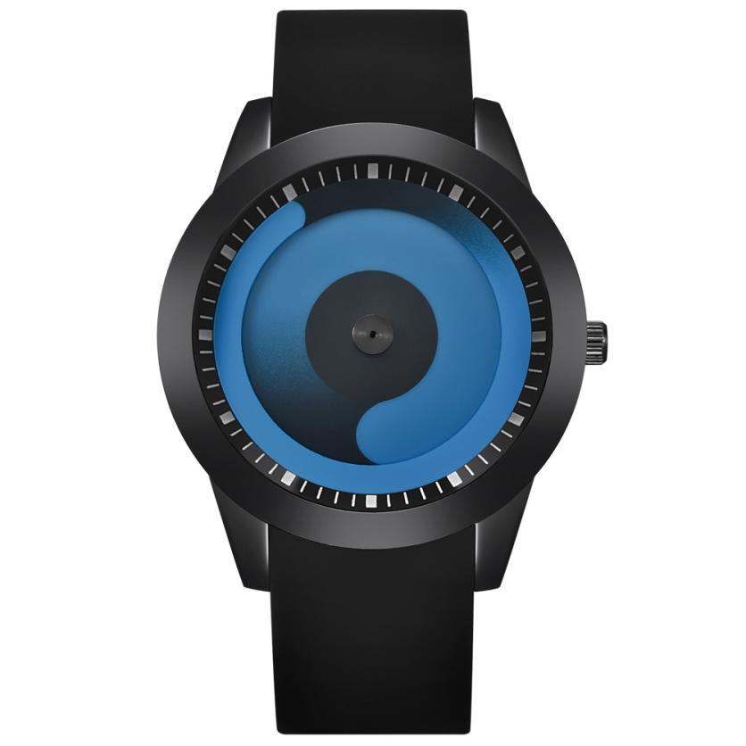 где купить Watches Men Fashion Watch 2017 New Unique Design Silicone Band Quartz Wristwatches Mens Clock Creative Relogio Masculino Dec06 по лучшей цене